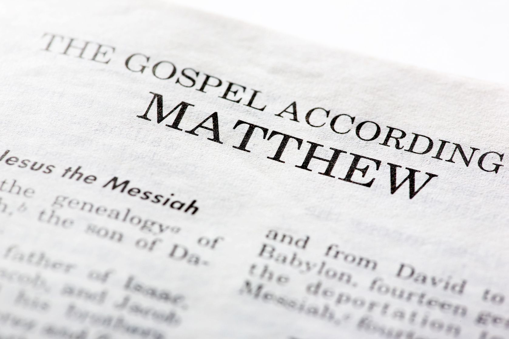the gospel of matthew The gospel of matthew: commentary, notes and study questions (the ignatius catholic study bible) [scott hahn, curtis mitch, dennis walters] on amazoncom free shipping on qualifying.